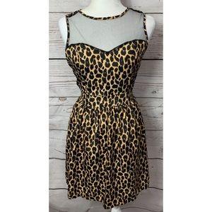 NWOT Ali & Kris Mesh Leopard Dress Size Medium